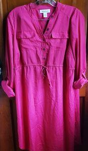Motherhood maternity pink dress